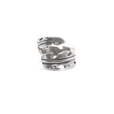 Massiver Ring Silber Tropen Blatt - Tropical Ringe KOOMPLIMENTS