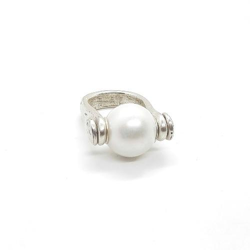 Ring mit weisser Perle - Marina Ringe KOOMPLIMENTS