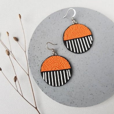 Savanne Ohrringe - Stud polymer clay jewelry KOOMPLIMENTS