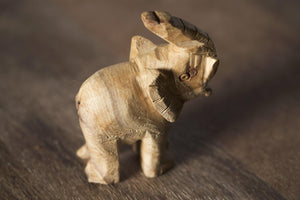 Enu Palo Santo Hand Carved Elephant Totem - Made in Peru - Spirit Animal Incense - Artisan Crafted