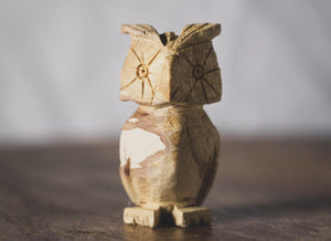 Enu Palo Santo Hand Carved Owl Totem - Made in Peru - Spirit Animal Incense - Artisan Crafted