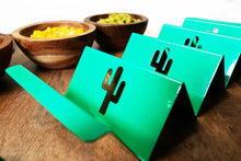 Load image into Gallery viewer, Biodegradable Quality - Colorful Taco Holder With Custom Hollow Design - Taco Stand - Taco Tuesday