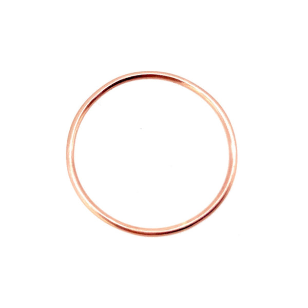 1mm 18ct Rose Gold Vermeil Slim Round Band or Skinny Stacking Ring