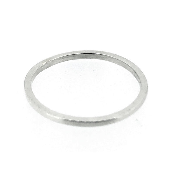 1mm Sterling Silver Skinny Square band Stacking Ring