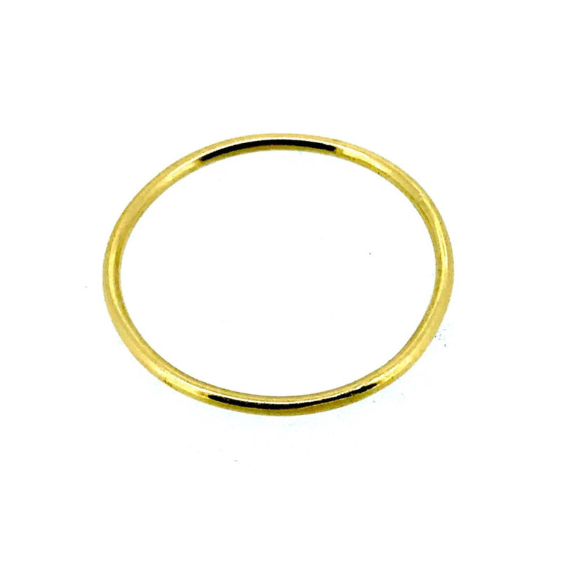 1mm Solid 22ct Yellow Gold Slim Round Wedding Band or Skinny Stacking Ring