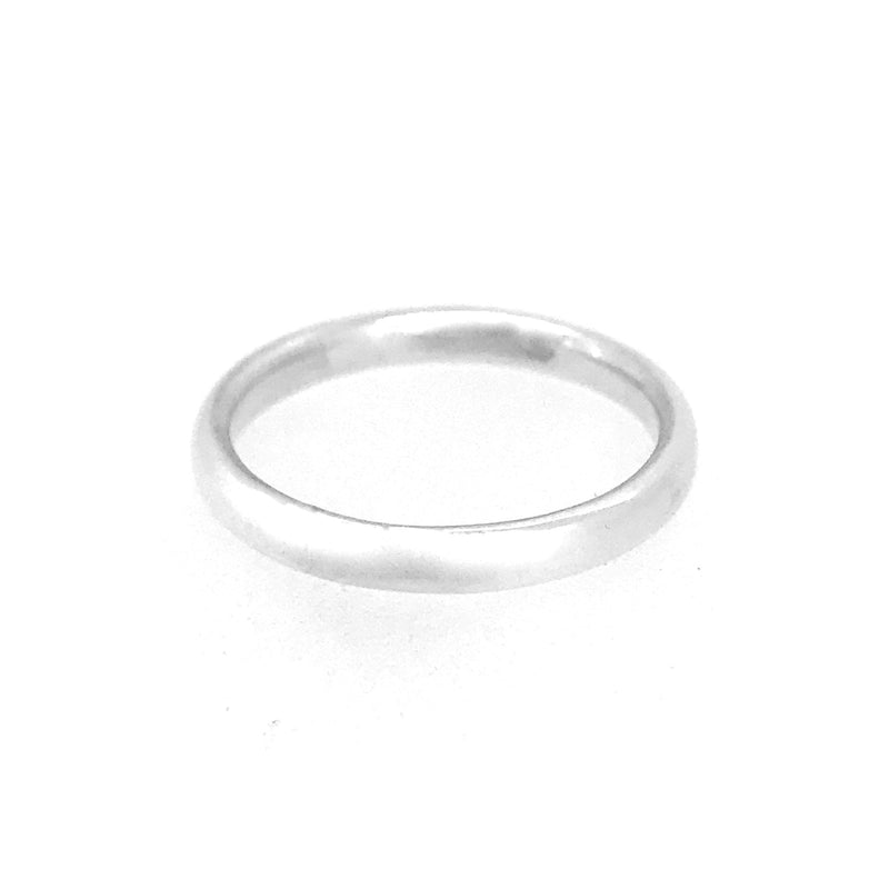 2mm Sterling Silver Court Shaped Wedding Band Ring
