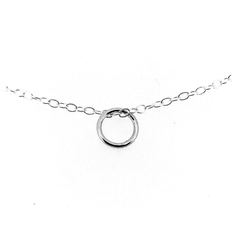 Karma Necklace Sterling Silver 8mm Circle Ring Pendant