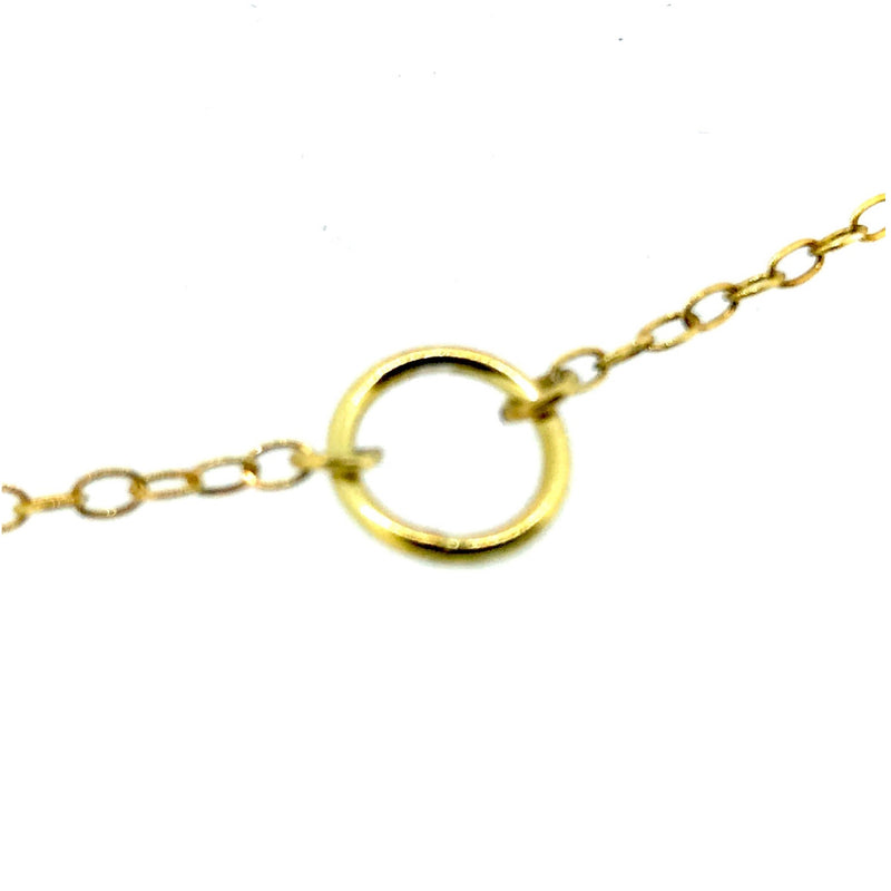 Karma Necklace Gold 8mm Circle Pendant 18ct Gold Vermeil