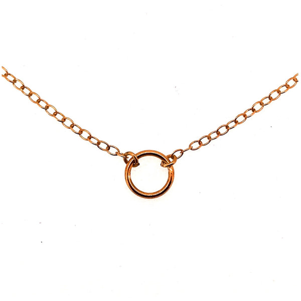 Karma Necklace Rose Gold 8mm Circle Pendant 18ct Gold Vermeil