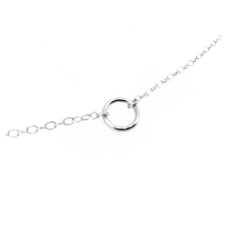 Karma Necklace 8mm Sterling Silver Circle Pendant
