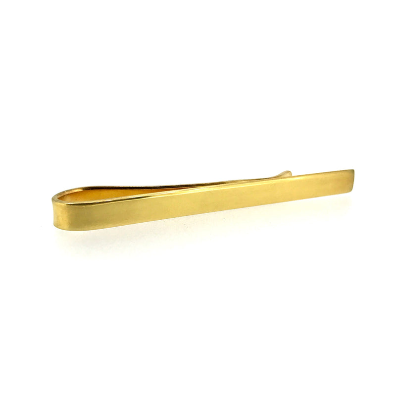 18ct Gold Vermeil Tie Clip 4mm Hallmarked Tie Slide
