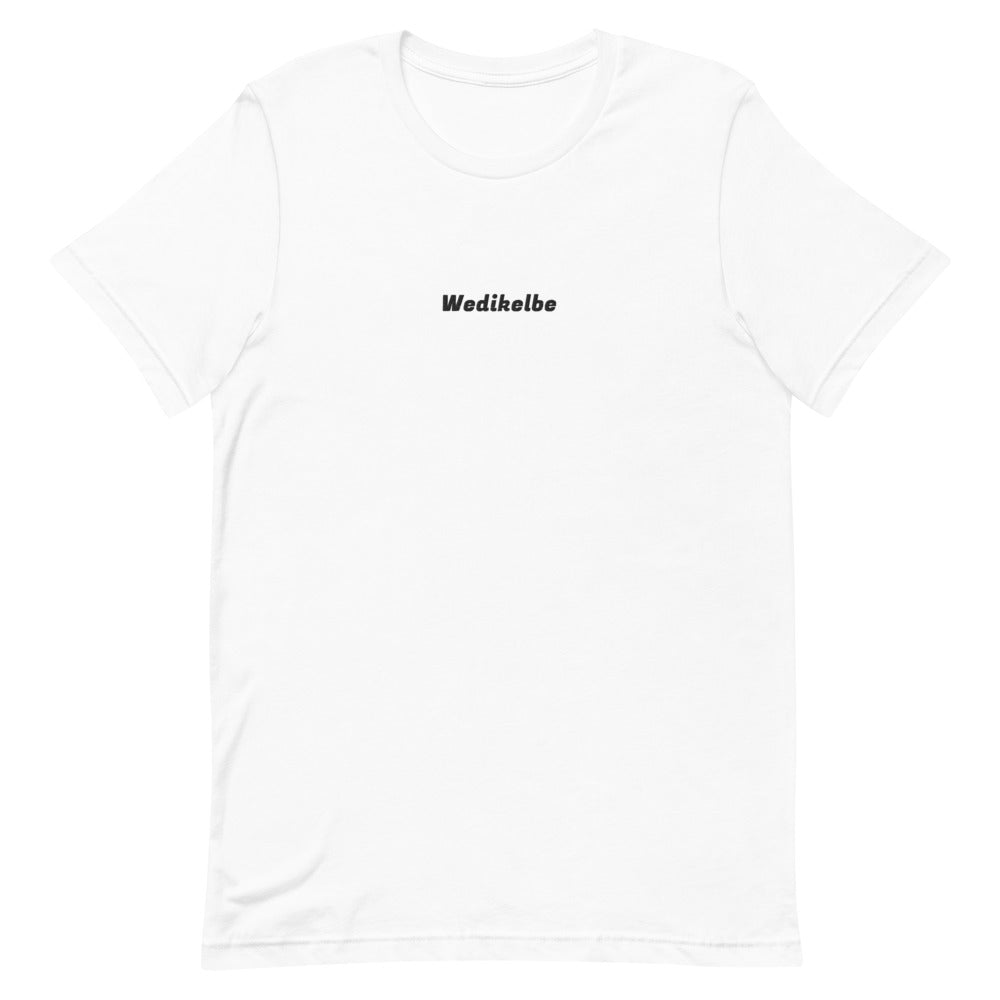Black Wedikelbe Embroidery Short-Sleeve T-Shirt