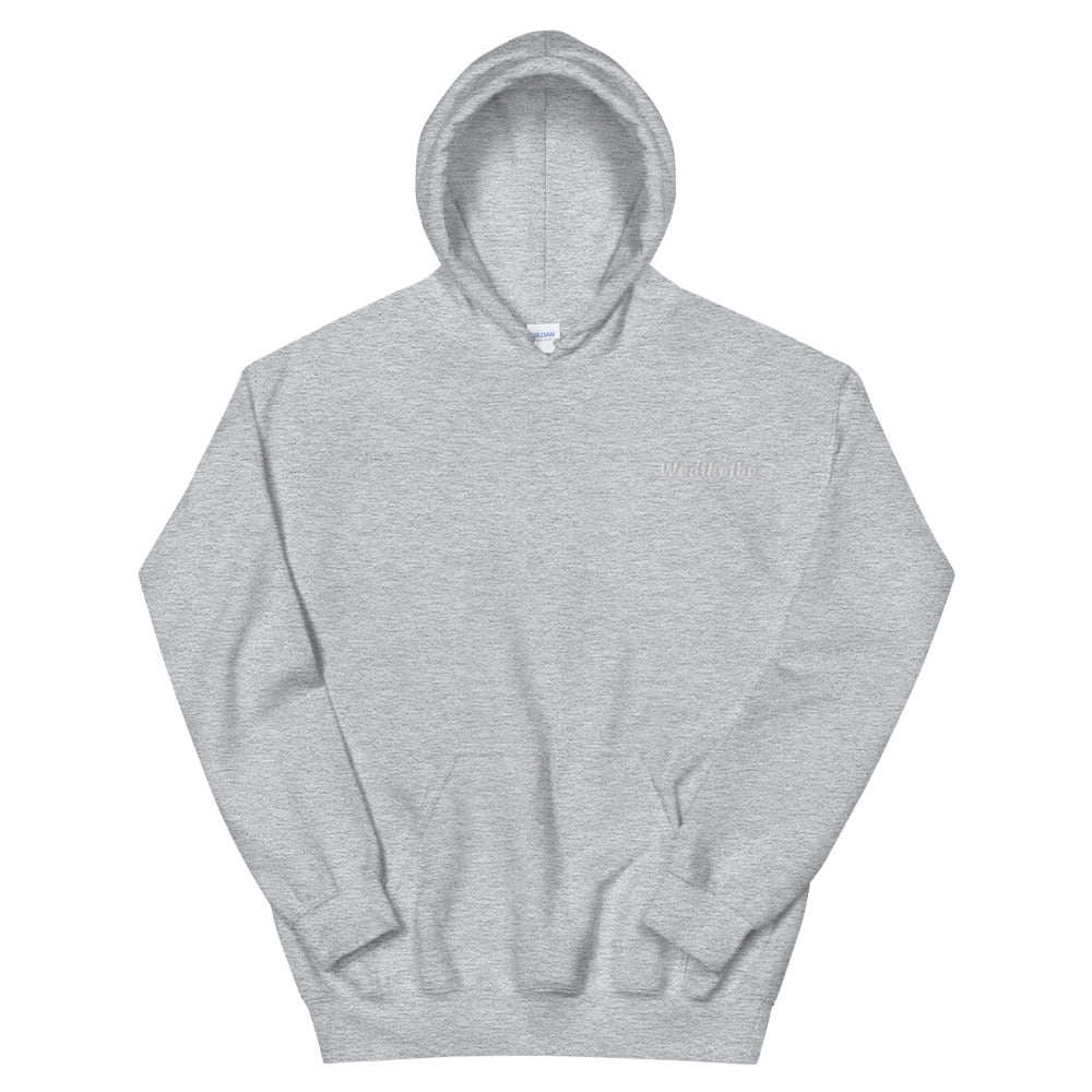 White Wedikelbe Embroidery (Left Chest) Hoodie