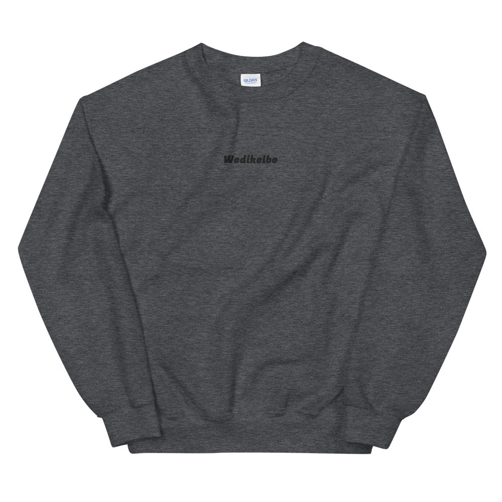Black Wedikelbe Embroidery Sweatshirt