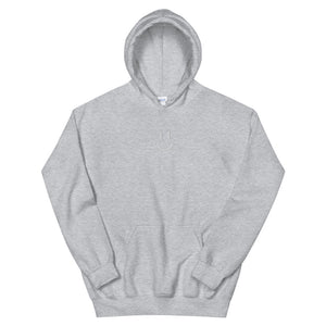 Rawky White Smile Embroidery Hoodie