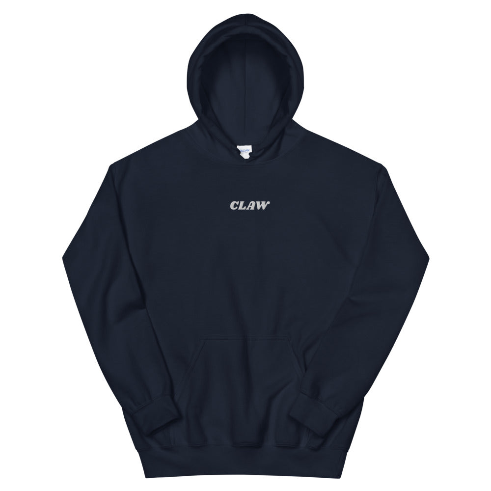 """Claw"" White Text Hoodie (Embroidery)"