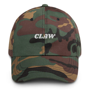 """Claw"" White Text Dad hat"