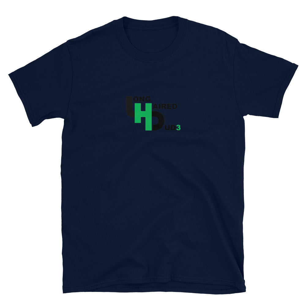 LongHairedDud3 Logo Short-Sleeve T-Shirt (Simple)