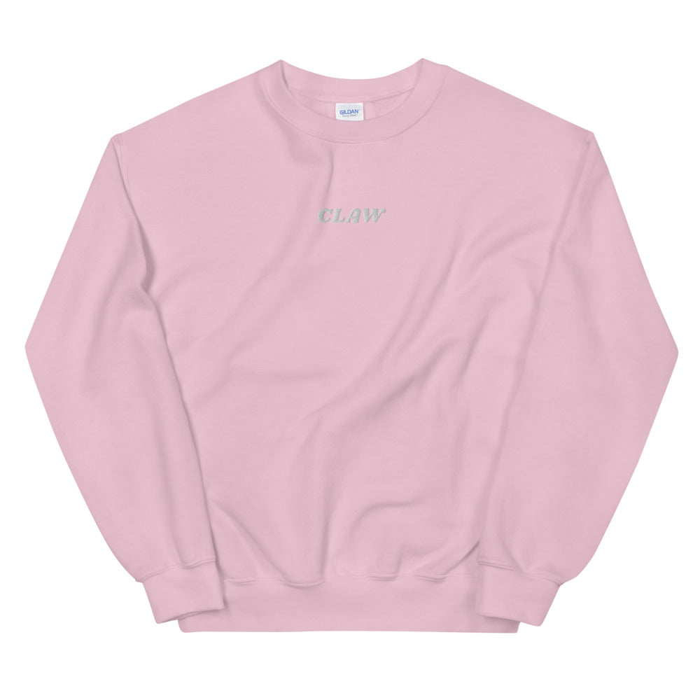 """Claw"" White Text Sweatshirt (Embroidery)"