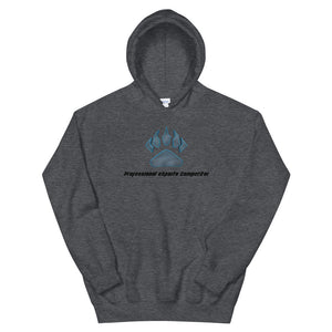 Claw Logo + Black Text Hoodie