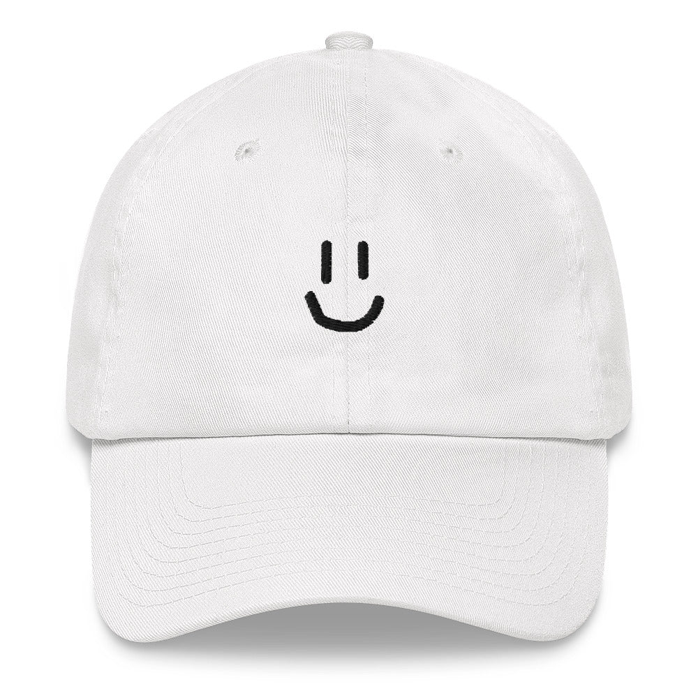 Rawky Black Smiley Dad hat