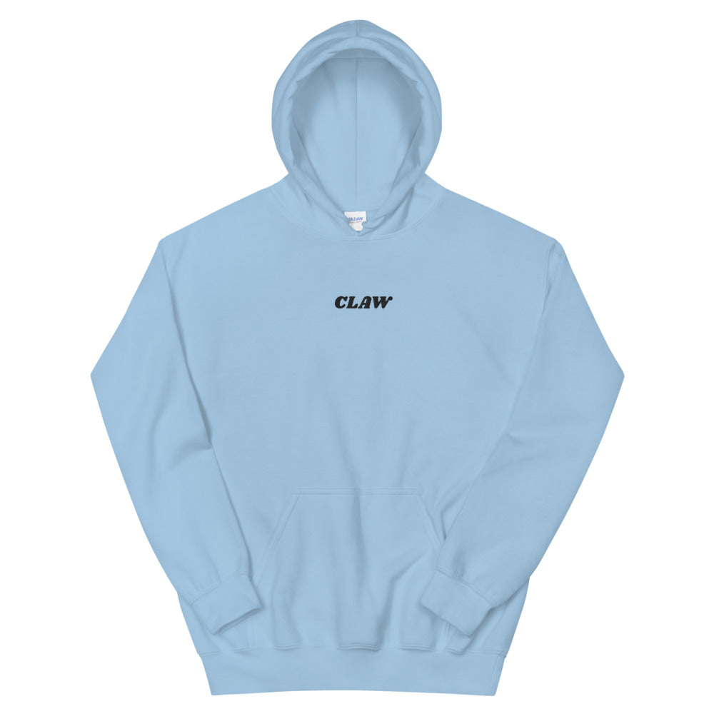"""Claw"" Black Text Hoodie (Embroidery)"
