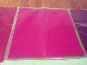 bright pink silk square scarf