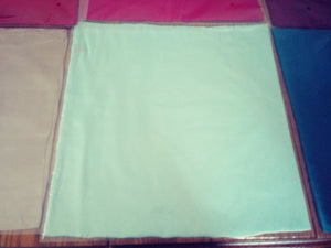 light turquoise silk square scarf