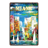 Florida Vintage Travel Tin Sign Metal Plate For Wall Pub Cafe Home Art Craft Decor Metal Poster Cuadros DU-2421B
