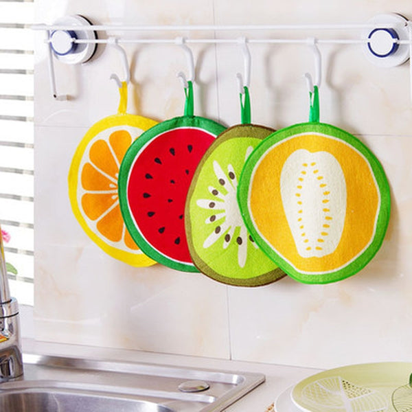 Cute Fruit Patterned Hanging Towel (1 piece)