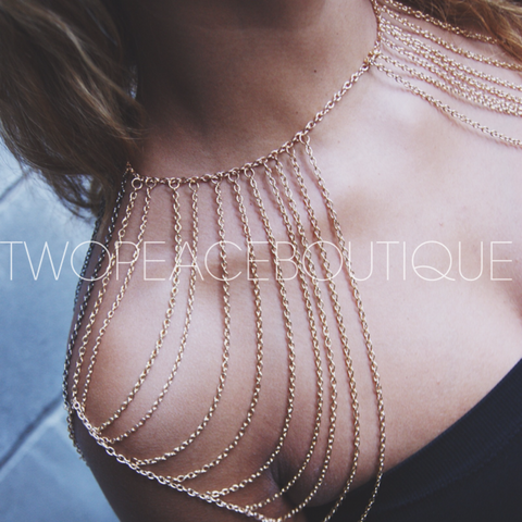 Dripping Gold Shoulder Chain