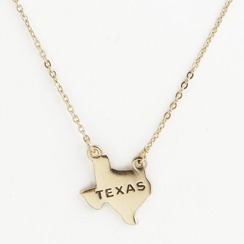 TEXAS State Necklace (As Seen On Eva Longoria)