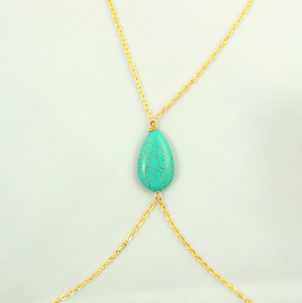 Turquoise Statement Body Chain