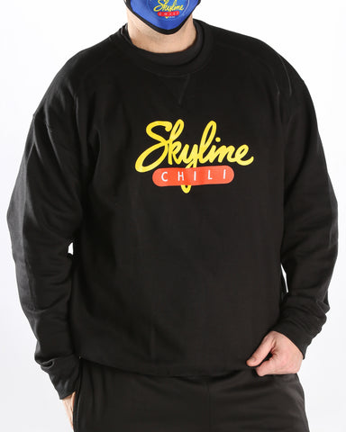 Skyline Crewneck Black Sweatshirt