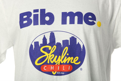 "White ""Bib Me"" Skyline T-Shirt"