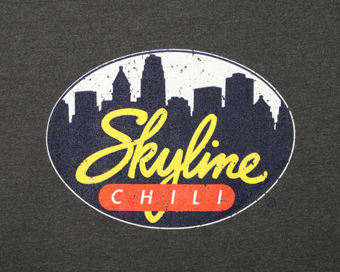 Skyline Fleece Crewneck Sweatshirt w/ Distressed Logo