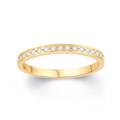18ct Yellow Gold Pave Wedding ring