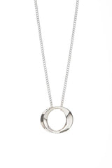 Maureen Lynch Wave Silver Small Necklace