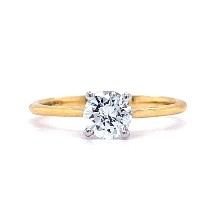 18ct Yellow Gold Round Solitaire Engagement Ring