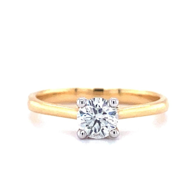18ct Yellow Gold Round Brilliant Solitaire Engagement Ring