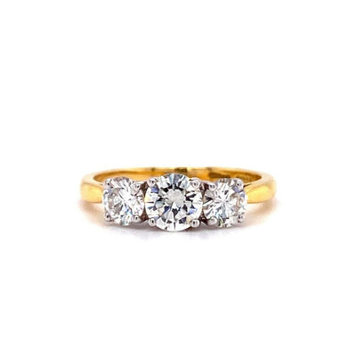 18ct Yellow Gold Three Stone 1.52ct Engagement Ring