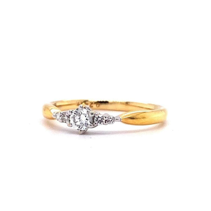 18ct Yellow Gold Fancy Solitaire Engagement Ring