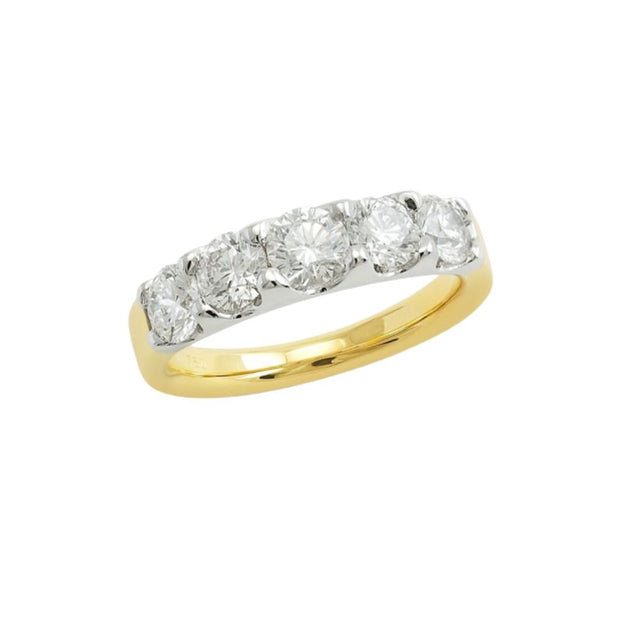 18ct Gold Diamond 5 Stone 1.73ct Eternity Ring