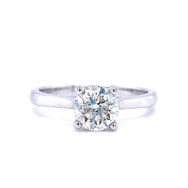 18ct White Gold 0.40ct Diamond Solitaire Engagement Ring