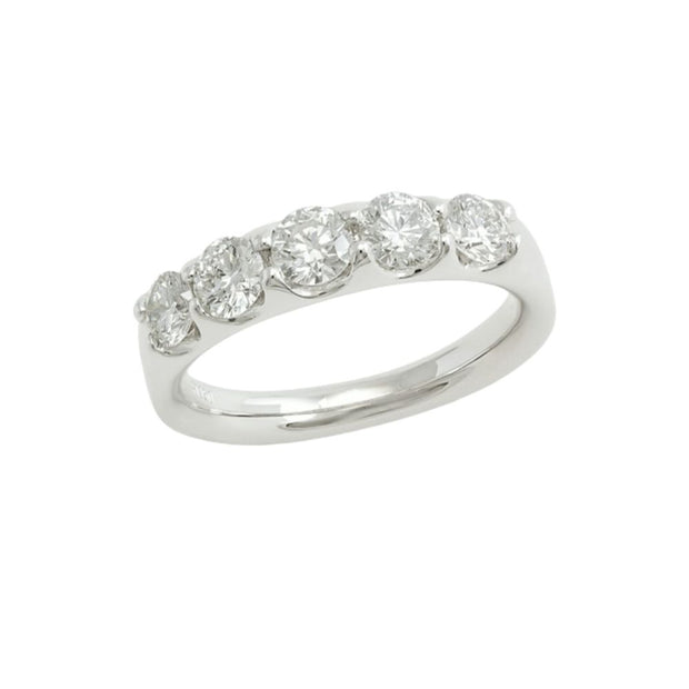 18ct White Gold Diamond 0.87ct 5 Stone Eternity Ring