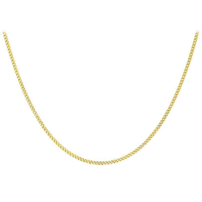 "9ct Gold Diamond Cut Curb 20"" Chain"