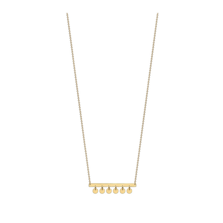 9ct Gold Hanging Disc Necklace