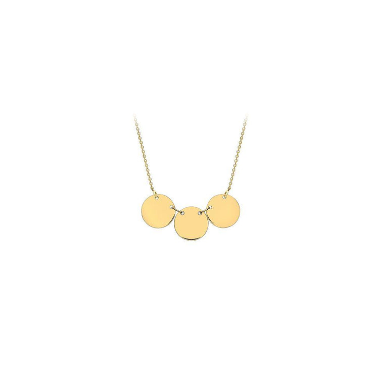 9ct Gold Triple Disc Necklace
