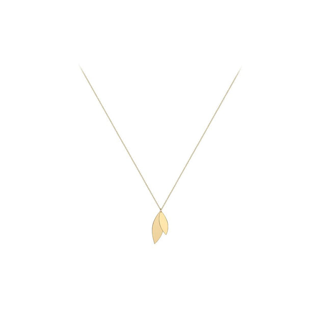 9ct Gold Leaves Necklace