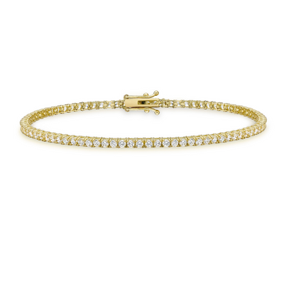 9ct Gold CZ Tennis Bracelet